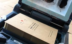 Love seeing people use their gocco printers for invites! Cost effective alternative to letterpress; a little bit of ink goes a very, very long way...