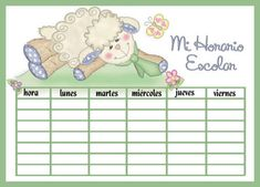 HORARIOS ESCOLARES - Papelería de Morella Jiménez School Labels, English Activities, School Items, English Grammar, First Day Of School, Kids And Parenting, Homeschool, Ideas Para, Classroom