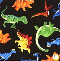 Dinosaurs cotton fabric only £3.25 FQ, fabulous for quilting.