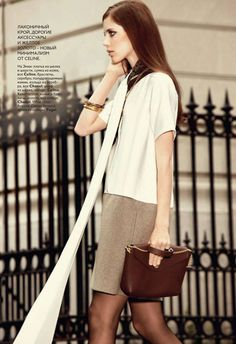 simple & pretty- Ann Kirby wearing Chanel and Celine for Vogue Russia, 2010