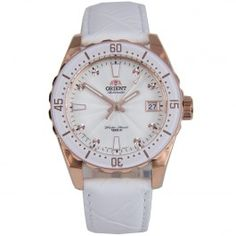 Orient Sporty Automatic White Leather Strap Womens Watch FAC0A003W AC0A003W
