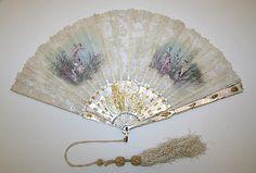 Fan. Date: 1890s. Culture: American. Medium: silk
