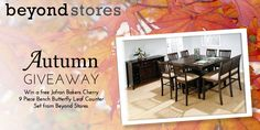 Win a free dining room set, including a leaf-insert table and chairs, in our #Autumn #Giveaway on beyondstores.com!  #contest #win