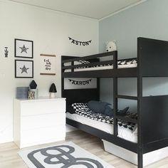 Syskonrum barnrum pojkrum Ikea Norddal våningssäng bunkbed bunk bed