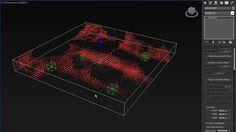 3ds Max: Particle Flow Gradual filling of cells