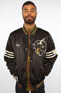 The Bison Varsity Jacket in Black by 10 Deep