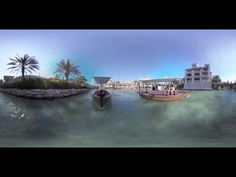 Jumeirah Madinat Abra ride - 360 degree video مدينة جميرا في دبي
