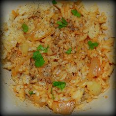 Rice with Caramelized Onions Recipe Joanna the Montrealer  I was in the mood for something fast and easy to make for lunch and while this would be a great side dish for chicken or fish, it's a great snack by itself. Ingredients 1 onion, thinly sliced 2 tab...