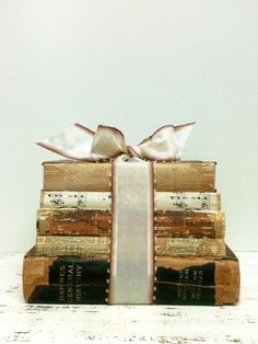 Antique Books,Home Decor,Book Display,Books for Wedding by beachbabyblues, $48.00