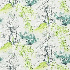 Designers Guild Winter Palace Lime Wallpaper ($84) ❤ liked on Polyvore featuring home, home decor, wallpaper, green, pattern, pattern wallpaper, green wallpaper, scene wallpaper, green floral wallpaper and flower pattern wallpaper