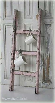Love this sweet little pink ladder.