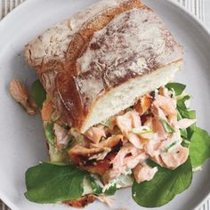 Salmon Salad Sandwiches on Ciabatta Recipe