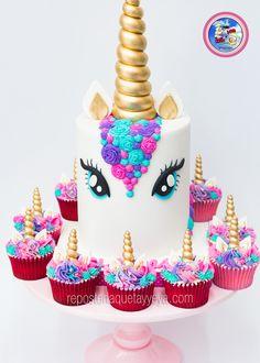 Torta unicornio cupcakes - unicorn cake