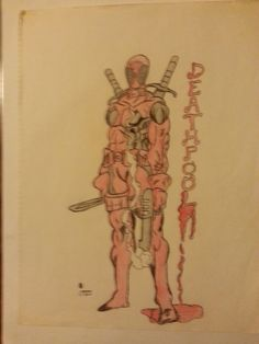 My rendering of Marvel Comics character 'DeadPool'. Freshman year