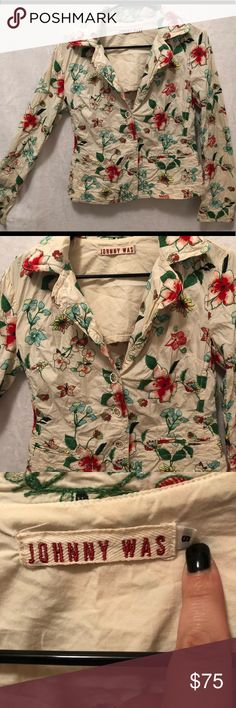 Johnny Was Vintage Floral Embroidered Jacket Small Amazing vintage condition Johnny Was Jackets & Coats Blazers