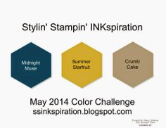 Stampin' Fun with Diana: Stylin' Stampin' INKspiration Color Challenge: Pomp & Circumstance