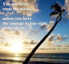 You can never cross the ocean, unless you have the courage to lose sight of the shore.