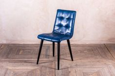 These slim dining chairs are upholstered in buffalo leather and have a beautiful square stitched pattern. The slim size of the 'Ripon' chair would suit an interior with limited space. Ideal for a contemporary kitchen, dining room, restaurant or bar.