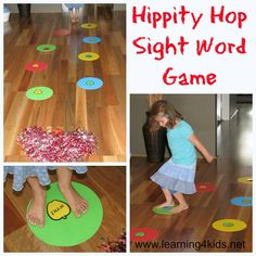 Hippity Hop Sight Word Game for kids - Free printable apple sight word cards