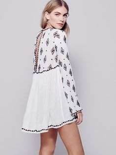 Diamond Embroidered Top at Free People Clothing Boutique