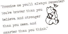 Winnie the Pooh / Christopher Robins quote by BewareTheOg on Etsy, £1.49