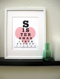 Poster/Modern art print Quote artSisters Make the by Eyecharts, $15.00