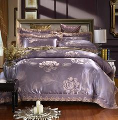 Find More Bedding Sets Information about Very HOT Luxury Silk satin cotton Jacquard bedding set Home Textile Quilt cotton bed sheet Comforter Bedding Set ropa de cama,High Quality sheet cutter,China sheet label Suppliers, Cheap bedding asian from Fashion home textile on Aliexpress.com