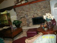 Stone fireplace in Main Farm house. Made from Bob's mother's personal rock collection. Rock Collection, Horse Farms, Farm House, Kentucky, Stone, Home Decor, Rock, Decoration Home, Room Decor