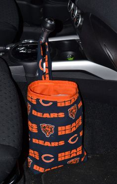 Chicago Bears Car trash bag by OnTheMarkCreations on Etsy, $17.00