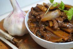 Biff med bambuskott Wok, Asian Recipes, Love Food, Crockpot, Seafood, Food And Drink, Low Carb, Victoria, Beef