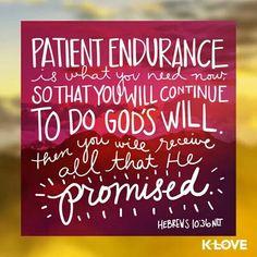 Hebrews 10:36