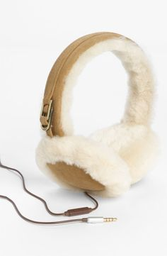 UGG® Australia Leather & Shearling Tech Earmuffs