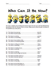 Here's a Minions dichotomous key activity. Biology Lessons, Science Biology, Teaching Biology, Science Lessons, Science Education, Science Activities, Life Science, Biology Teacher, Science Lesson Plans