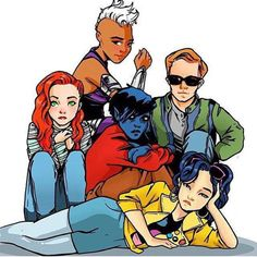 The New X-Men in a classic Breakfast Club pose! Could this be more perfect? Found on www.universoxmen.com.br #xmenapocalypse
