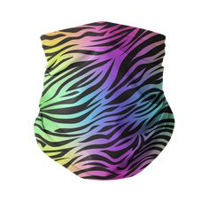 Rainbow Tiger Sublimation Neck Gaiter Irish Design, Irish Celtic, Layer Style, Face Masks, Rainbow, Facial Masks, Rain Bow, Rainbows, Face Mas