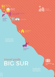 Looking for a stunning place to take a road trip? This Big Sur travel guide will help with tips and ideas on which restaurants and must-see sites to visit in this beachy California area. West Coast Road Trip, Us Road Trip, Road Trip Hacks, Big Sur, Vacation Destinations, Vacation Trips, Vacations, California Dreamin', California Camping