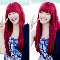 Tiffany snsd with red hair