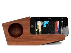 Angular and abstract: perfect for intimate parties. | Pivot Passive iPhone Amplifier by Jim Simon | via MocoLoco