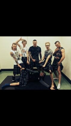 Mcbusted with kilts on!