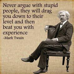 Stupid people - Mark Twain