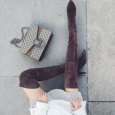 Over-the-knee boots are so hot right now. // Follow @ShopStyle on Instagram to shop this look