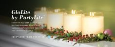 PartyLite's newest products are here for Christmas!  Glowlite is only available with a PartyLite Rep.  Get yours for the holidays!