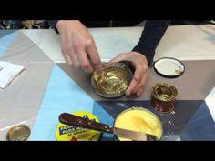 Como preparar Cera de Patinar Dorada, para la terminación de trabajos con pintura en muebles y objetos de decoración.
