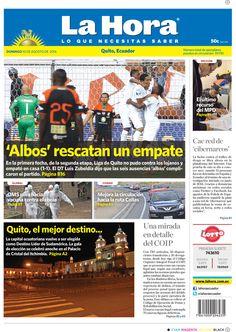 'Albos' rescatan un empate, El último recurso del MPD, Quito, el mejor destino.., Cae red de 'Cibernarcos', Una mirada en detalle del COIP.