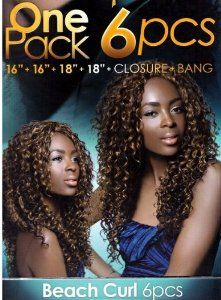 BEACH CURL 6PCS - Ever Beauty Ice Chocolate Human Hair Premium Mix Weave Extensions #1 Jet Black by Ice Chocolate. $29.99