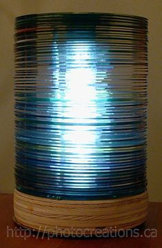 How to make a lamp out of old CDs. » Curbly | DIY Design Community