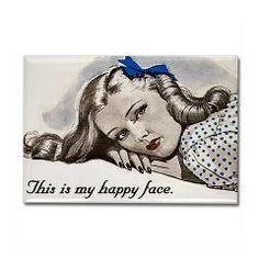Happy Face Rectangle Magnet > Funny Fridge Magnets > Cafe Pretzel T-Shirts & Gifts
