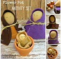 Resultado de imagen de Terracotta Pot Nativity Crafts