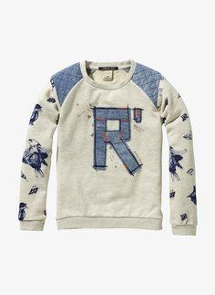 Scotch R'Belle Fancy Sweatshirt - Ecru Melange