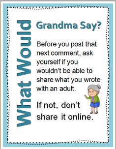 What Would Grandma Say about you posts online?